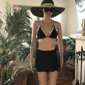Black sarong cover up